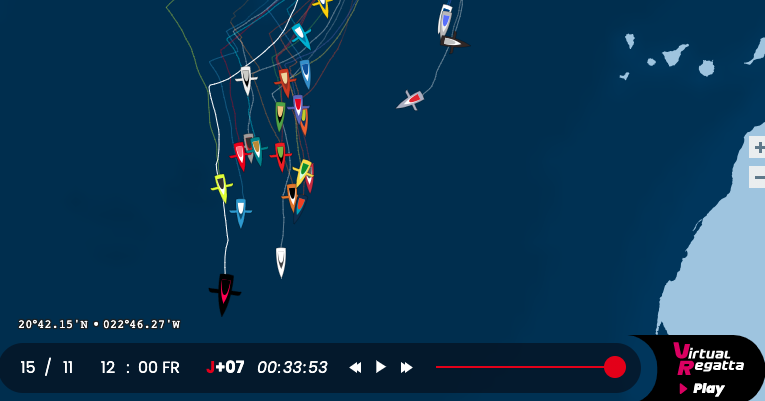 Off to a flying start! Vendée Globe,  1 week in 4